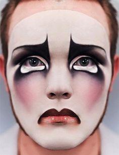 Impressive Clown Halloween Make-Up Mime Makeup, Costume Makeup, Makeup Art, Fairy Makeup, Mermaid Makeup, Makeup Inspo, Makeup Inspiration, Makeup Ideas, Halloween Gesicht