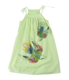 2042 Cotton Silk Bird Dress | FRED BARE