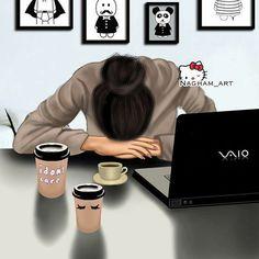 Time to say Goodnight! Even the coffee didn't work! Girly M, Cute Cartoon Girl, Cartoon Art, Studying Girl, Sarra Art, Christian Stories, Cute Girl Drawing, Girly Drawings, Cute Girl Wallpaper