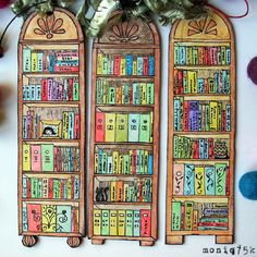 Bookshelf bookmarks - brilliant!