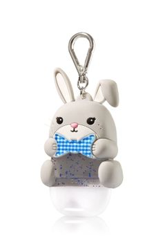 Gingham Easter Bunny - PocketBac Holder - Bath & Body Works - Hop down the bunny trail with this adorable gingham Easter Bunny for your favorite PocketBac! The convenient clip attaches to your backpack, purse and more so you can always keep your sanitizer handy.