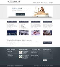 Lawyer SEO Website Design at http://www.McGinnLawPC.com