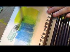 how to: using Inktense pencils on gesso and molding paste in my art journal - YouTube