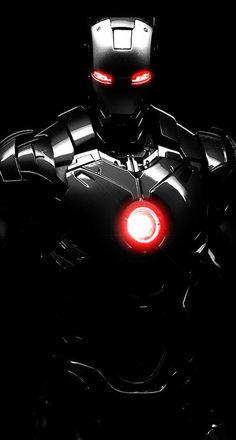 iPhone, Iron Man, Movie, Robot Suit, 3D, Black - Wallpaper
