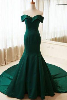 Simple Mermaid Off Shoulder Long Dark G#prom #promdress #dress #eveningdress #evening #fashion #love #shopping #art #dress #women #mermaid #SEXY #SexyGirl #PromDressesreen Satin