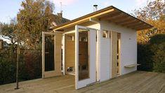 Outdoor Sauna, Outdoor Decor, Sauna Design, Vegas, Garage Doors, Shed, Villa, Pergola, Outdoor Structures