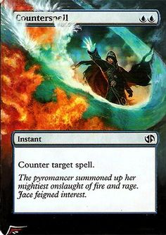 Counterspell MtG Alter by Black Wing Studio. www.squidoo.com/magic-the-gathering-altered-art-cards #mtg #magic #acrylic