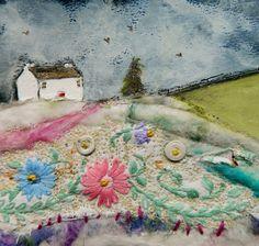 'A cottage on Nut Lane'' by Louise O'Hara of DarwntoStitch http://www.facebook.com/drawntostitch/