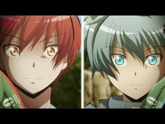 Assassination Classroom Karma Akabane vs Nagisa Shiota episode 18 season 2 final season face off fight<-- I just watched this and just now reliezed that the leader of the blue team has blue hair and the leader of the red team has red hair :O Anime Meme, Manga Anime, Anime Art, Karma Y Nagisa, Karma Kun, Assassination Classroom Karma, Me Me Me Anime, Anime Guys, Koro Sensei Quest