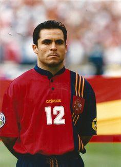 Sergi Barjuán de España en la Eurocopa de 1996.