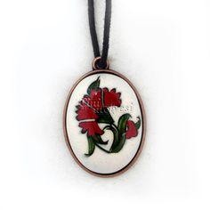 kolye Turkish Tiles, Porcelain Jewelry, Enamel, Pendant Necklace, Painting, Accessories, Fashion, Porcelain Ceramics, Moda