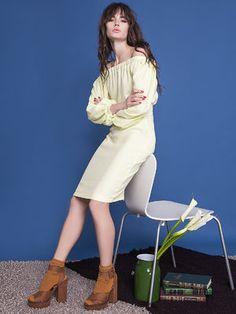 Платье лимонного цвета - ANNA YAKOVENKO - 2249281