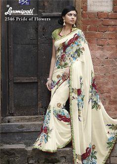 Laxmipati Sarees, Indian Sarees, Lehenga, Saris, Saree Blouse Designs, Blouse Styles, Indian Ethnic Wear, Indian Style, Buy Sarees Online