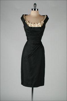 Vintage 1950 #black #dress #vintage