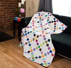 Benartex Candy Squares Quilt Kit - White