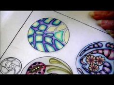 ▶ Color pencil tutorial, zentangle inspired art, color blending . Part three - YouTube