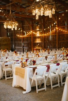 A seriously cool barn setting.