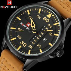 $29.99 (Buy here: https://alitems.com/g/1e8d114494ebda23ff8b16525dc3e8/?i=5&ulp=https%3A%2F%2Fwww.aliexpress.com%2Fitem%2FNAVIFORCE-fashion-sports-men-quartz-watches-leather-starp-casual-brand-watches-man-yellow-dials-30M-waterproof%2F32671481194.html ) NAVIFORCE fashion sports men quartz watches leather starp casual brand watches man yellow dials 30M waterproof relogio masculino for just $29.99