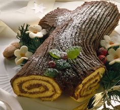 Receita de Tronco de Natal com Açúcar em Pó | Doces Regionais