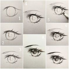 "3,358 curtidas, 24 comentários - Ivy's diary (@ivyesre) no Instagram: ""(Anime eye drawing tutorial step by step.) The steps thats going to be explained, goes in order…"""