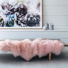 Hides of Excellence throw rugs made from genuine Mongolian sheepskin throw, dyed a pretty pink blush, will is a versatile home decor accent. Whether used as soft under foot floor rug or indulgent cosy throw over furniture, you will transform the c. Sheepskin Throw, Large Beds, Bed Runner, Rug Making, Floor Rugs, Throw Rugs, Accent Decor, Design Trends, Interior Design