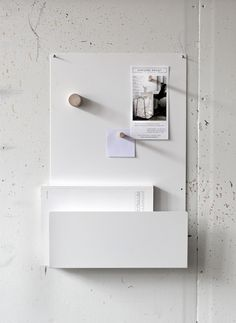 Check out the MEMO White Board in Message Boards, Storage & Organization from Everyday Design for Memo Boards, Note Board, Organizer Box, Design Minimalista, Desk Accessories, Interior Accessories, Whiteboard, Modern Wall, Getting Organized