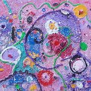 Anita Dielen Abstract Acryl mixed media