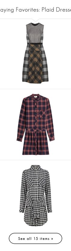 """""""Playing Favorites: Plaid Dresses"""" by polyvore-editorial ❤ liked on Polyvore featuring PlaidDress, dresses, brown, tartan dress, plaid dress, etro dresses, etro, brown dresses, multicolor and t-shirt dresses"""