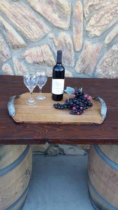 Wine Barrel Head Serving Tray or Cutting Board