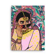 Small Canvas Art, Diy Canvas Art, Girly Drawings, Art Drawings, Images Wallpaper, Wallpapers, Indian Illustration, Pop Art Drawing, Fusion Art