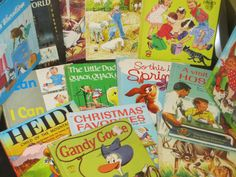 Vintage Lot of 15 Childrens WonderBooks Romper Room Christmas Spring Henny Penny by HolySerendipity on Etsy