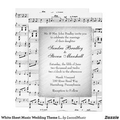 White Sheet Music We