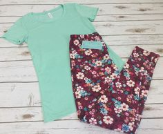 Happy Thursday from these floral leggings! These are soft leggings with such a gorgeous floral pattern! Paired with a soft mint Bella t-shirt! ❤️ #BellaTank #FloralLeggings #SoftLeggings #Shop #Calvert #FunLeggings #Florals #FloralAccessories #IBHCB #Boutique #Clothing #Shoppings #Floral #GirlsDay #ShopTillYouDrop #ShopSmall #Cute #bellacanvas