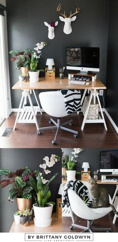 home office decorating ideas pinterest. One Room Challenge Week 6: Modern Multi-Use Space Reveal. Home Office DesignHome  DecorDIY Home Office Decorating Ideas Pinterest
