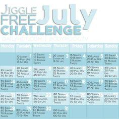 Jiggle Free July Challenge