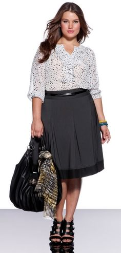 Plus Size Wear to Work Options: Eloquii Skirted Look