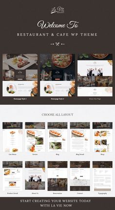 Lavie is a Responsive WordPress Theme for #Restaurant, Bar & Cafe Shop. It support e-commerce store for selling products with WooCommerce plugin. Comes in 3 stunning homepage layouts. #foodcourt #foodland #website