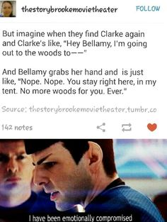 No more woods for you.  Ever. Tumblr. The 100. Bellarke.