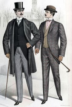70 New Ideas For Vintage Clothes Men Victorian Mens Fashion - Historical Clothing Edwardian Clothing, Historical Clothing, Edwardian Style, Men's Clothing, Victorian Mens Fashion, Vintage Fashion, Gothic Fashion, Cool Outfits For Men, Vintage Outfits