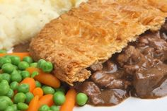 Steak Pie courtesy of SaucyFood.com: This Beef Pie Recipe uses beef steak topped with puff pastry. The longer you leave beef to cook, the more tender it will become.