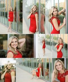 Kalyn | The Woodlands College Park | 2016 Senior www.amandaholloway.com urban senior, senior dress, senior pose, senior girl poses, red dress, the woodlands, houston photographer, amanda holloway