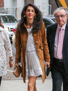 51728281 Human rights lawyer Amal Alamuddin and her parents arrive at the Public Theater to see 'Hamilton' in New York City, New York on May 1, 2015. Amal is enjoying some family time while her husband George Clooney films his new movie 'Money Monster in NYC. FameFlynet, Inc - Beverly Hills, CA, USA - +1 (818) 307-4813