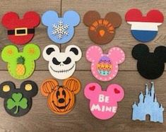 Mouse Head Mickey Add On Interchangeable Shapes- Mickey Home sign, Disney decor, Mickey interchangeable shape Drunk Disney, Disney Sign, Disney Stuff, Disney Art, Mickey Love, Mickey Y Minnie, Disney Home Decor, Disney Crafts, Disney Decorations