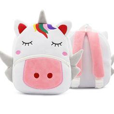 056463506411c Plecak szkolny dla dzieci Cartoon Rainbow Unicorn Design Miękki pluszowy  materiał dziecięcy Baby Girl Przedszkole