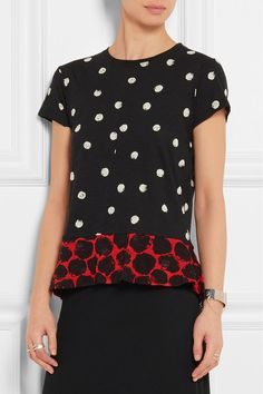 Sewing inspo: Love how Proenza Schouler paired these two prints for one fab tee.
