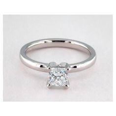 Comfort Fit Solitaire Diamond Engagement Ring in 4 Prong Setting