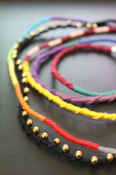 Hi I started wrapping them with embroidery floss at 12am on 18/1 and finished wrapping on 25/1 because I had this thing called school and I also had to find time to buy the beads. Only today I foun...