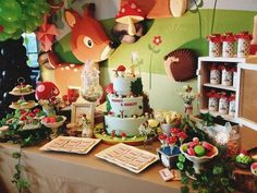 """What an awesome birthday party or baby shower this would be! Fabulous! """"Welcome to the woodland party!"""""""