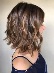 #EricDress - #EricDress Hot Mixed Color Bob Wavy 100% Human Hair Lace Wig 12 Inches - AdoreWe.com