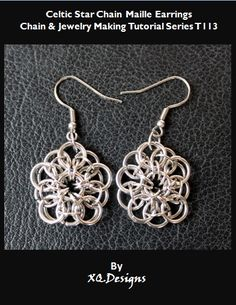 Celtic Star Chain Maille Earrings Tutorial